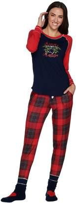 Cuddl Duds Cozy Jersey Pajama Set with Socks