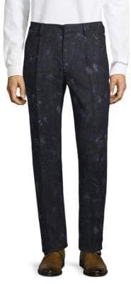 Valentino Printed Buttoned Pants
