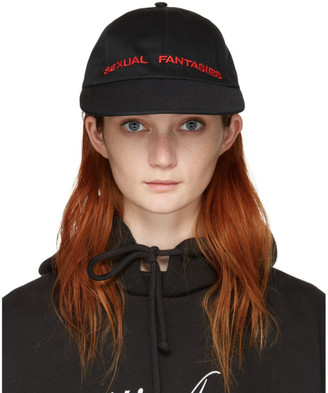Vetements Black 'Sexual Fantasies' Cap $240 thestylecure.com