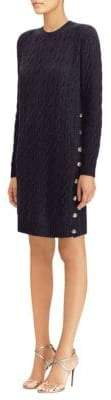Ralph Lauren Silk Cable-Knit Sweater Dress