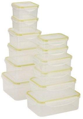 Honey-Can-Do 24-Piece Locking Food Container Set, Clear