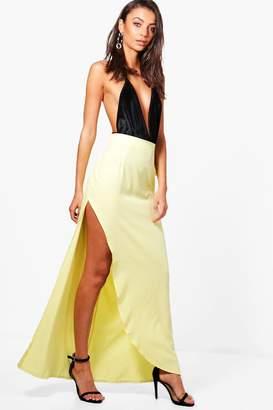 boohoo Tall Woven Maxi Skirt