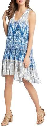 Karen Kane Paisley Tiered Ruffle High/Low Dress - 100% Exclusive