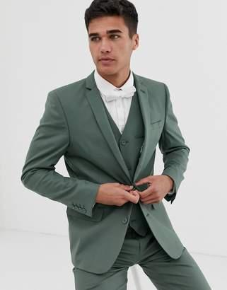 Asos Design DESIGN slim suit jacket in sage green