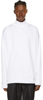 Marques Almeida White French Terry Turtleneck