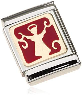 Nomination Composable BIG ANGEL 18 K Gold Partially Gold-Plated Stainless Steel Ladies 'Charm Enamel – 032244/06