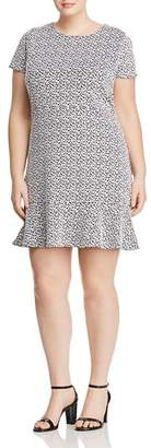 MICHAEL Michael Kors Floral Jacquard Knit Flounce Dress