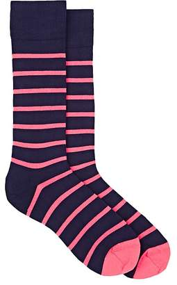 Paul Smith Men's Striped Stretch-Cotton Mid-Calf Socks