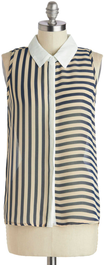 Fashion Sense of Direction Top in Navy