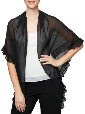 Alex Evenings Ruffle-Trimmed Shawl