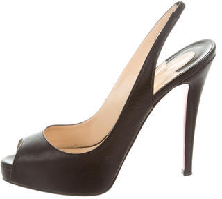 Christian Louboutin  Christian Louboutin Very Prive Slingback Pumps