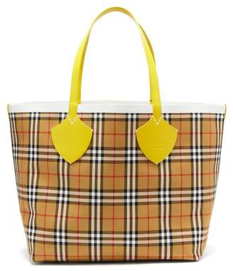 Burberry The Giant Reversible Cotton Tote - Womens - Brown Multi
