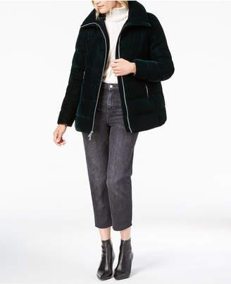 BCBGeneration Velvet Puffer Coat