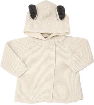 Stella McCartney Bunny Hooded Organic Cotton Cardigan