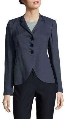 Armani Collezioni Chevron Buttoned Blazer