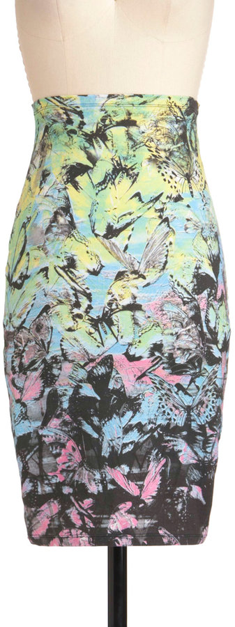Fluttering With Color Skirt