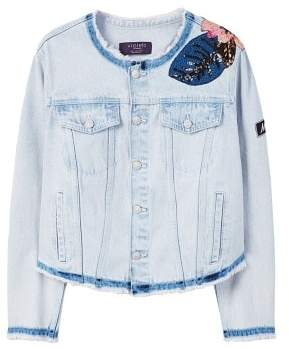 Violeta BY MANGO Appliqu?? denim jacket