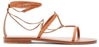 Álvaro González X Kim Hersov Kyah Leather Sandals - Womens - Tan