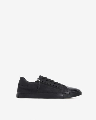Express Faux Leather Side Zip Low Top Sneakers