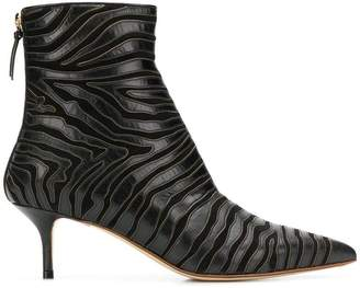 Francesco Russo zebra ankle boots