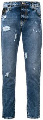 John Richmond distressed skinny jeans