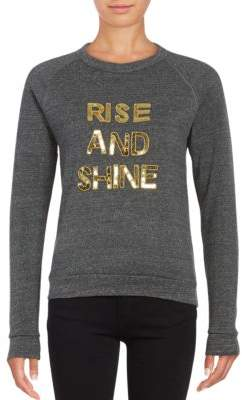 Bow And Drape Rise and Shine Pullover