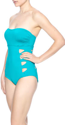 Carmen Marc Valvo Cut Out Bandeau Monokini