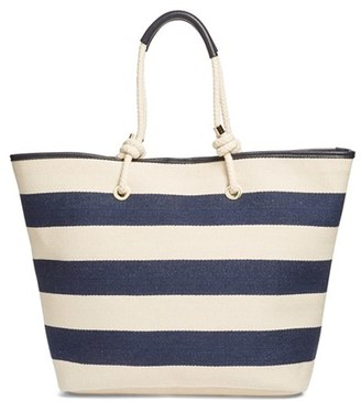 Phase 3 Rope Handle Canvas Tote - Blue $75 thestylecure.com