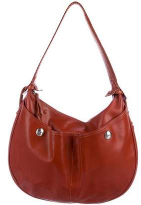 Longchamp Leather Pocket Hobo
