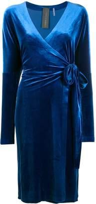 Norma Kamali velvet wrap dress