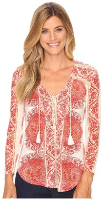 Lucky Brand - Placed Print Top Women's Clothing $59.50 thestylecure.com