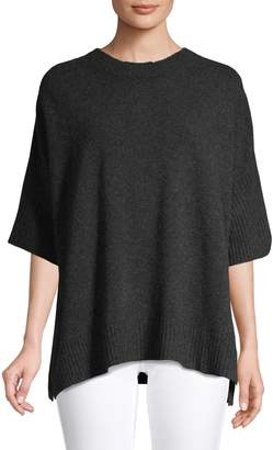 Max Mara Franca Short-Sleeve Oversized Sweater
