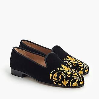 J.Crew Stubbs & Wootton® loafer in black and gold