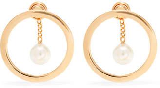 Chloé Gold-tone Faux Pearl Earrings - one size