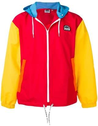 MSGM colour block hooded jacket