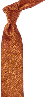 Canali Orange Silk Tie