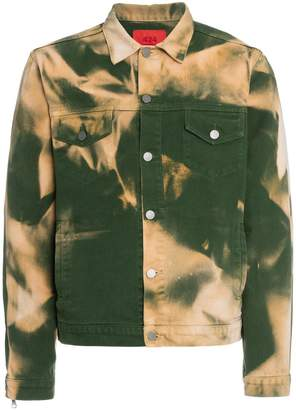 424 x Armes bleach denim jacket