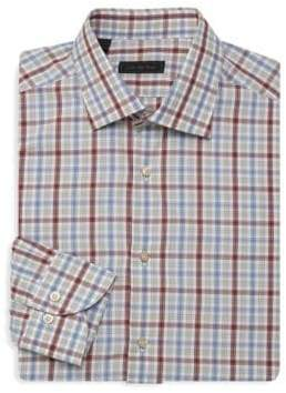 Saks Fifth Avenue COLLECTION Earth Tones Button-Down Shirt