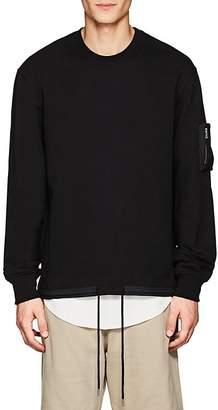 Helmut Lang Men's Fishtail-Vent Cotton Terry Sweatshirt