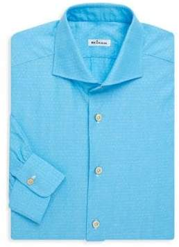 Kiton Tonal Tiny Paisley Shirt