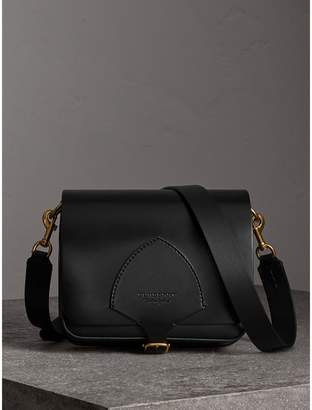 Burberry The Square Satchel in Bridle Leather, Black
