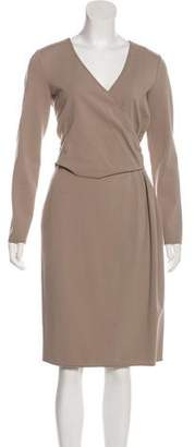Armani Collezioni Long Sleeve Midi Dress w/ Tags