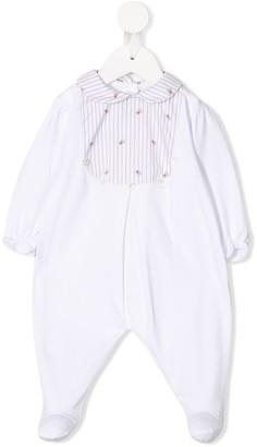 Siola striped bib babygrow