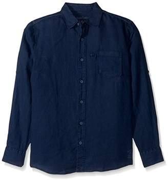 Margaritaville Men's L/s Cabana Linen Shirt