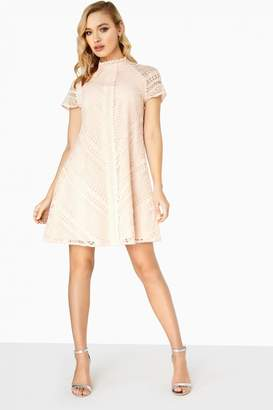 Little Mistress Orla Geo Lace Shift Dress
