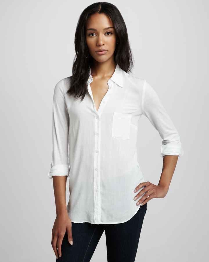 Splendid Button-Down Blouse