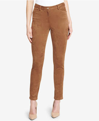 Tommy Hilfiger Faux-Suede Skinny Pants