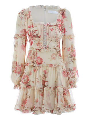 Zimmermann Corsair Frill Corset Dress