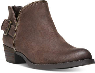 Carlos by Carlos Santana Cayenne Buckle Block-Heel Booties Women's Shoes $79 thestylecure.com