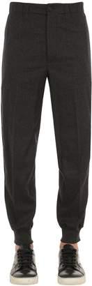 Alexander McQueen Zip Cuff Flannel Sweatpants